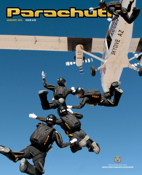 Jan 2013 Parachutist Cover