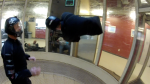 Todd Love working on barrel rolls in the windtunnel with Instructor Niklas Daniel of AXIS Flight School.