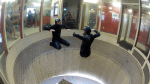 Todd Love working on head-up flying in the windtunnel with Instructor Niklas Daniel of AXIS Flight School.