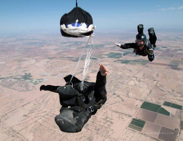 Todd Deploying his Parachute