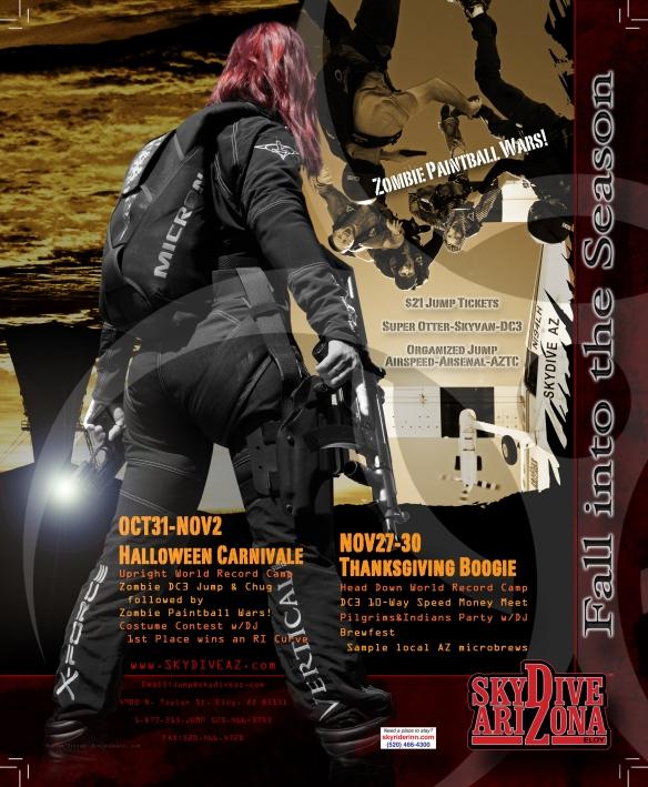 SDAZ Zombie Apocalipse Parachutist Ad. Photos and Design by NiklasDaniel.com